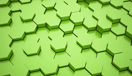Green hexagonal business background photo