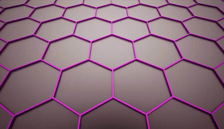 Pink abstract hexagonal cell background rendered photo