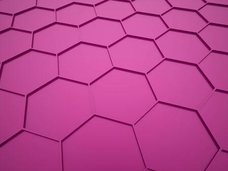 Pink hexagonal background rendered