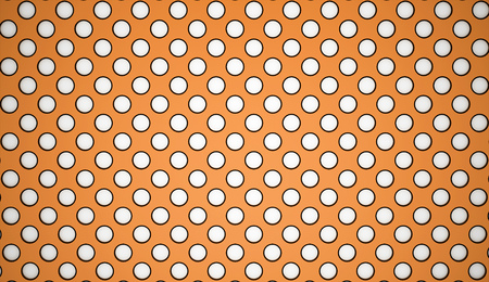 Orange abstract mesh rendered photo