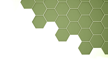 Green abstract hexagonal cell background rendered photo