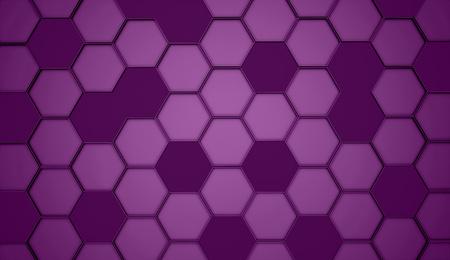 hexagonal: Purple hexagonal background rendered
