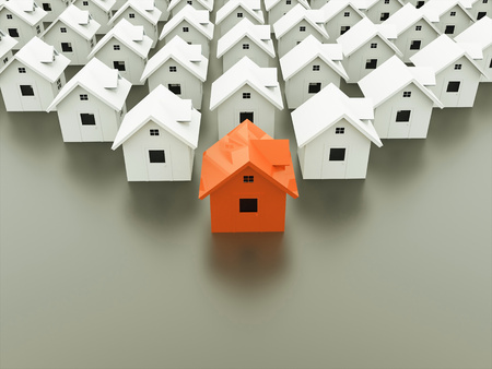 1 つの家のコンセプトはオレンジ 写真素材