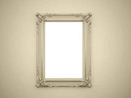 Yellow mirror frame rendered