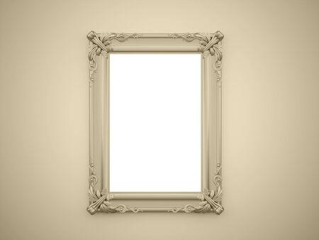 mirror frame: Yellow mirror frame rendered