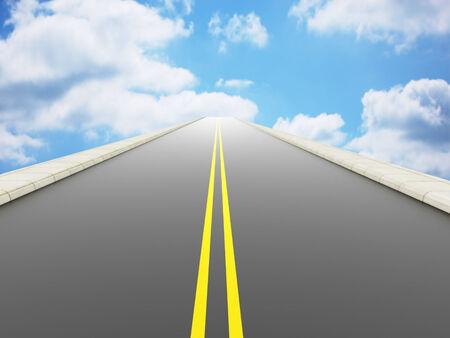 heaven: Road to heaven concept Stock Photo
