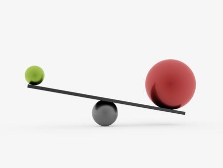 スイング球赤と緑白で隔離 写真素材