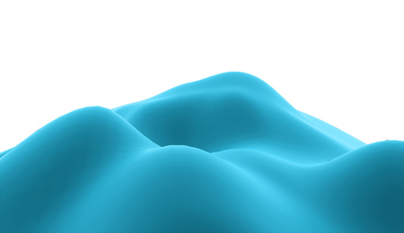 rolling landscape: Blue terrain on abstract land rendered