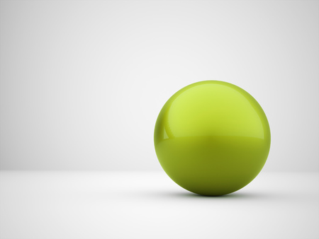 Green abstract sphere concept rendered photo