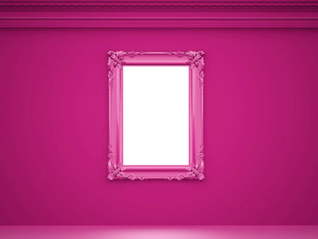 old mirror: Pink vintage background with old mirror Stock Photo