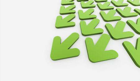 green arrows: Green arrows business concept