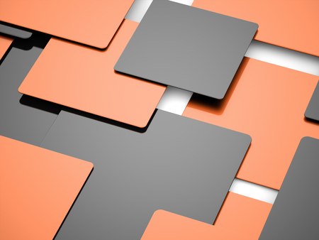 abstract cubes: Orange abstract cubes business concept background rendered