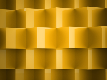 abstract cubes: Yellow abstract cubes background rendered Stock Photo