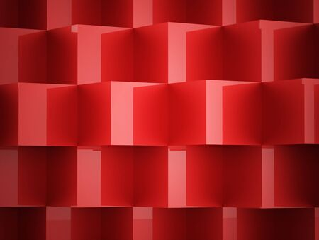 abstract cubes: Red abstract cubes business concept background rendered Stock Photo