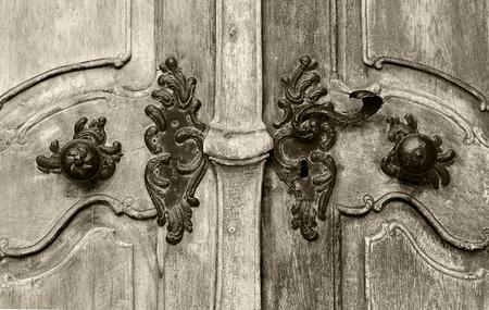 ドアを閉じる歴史的なビンテージ 写真素材