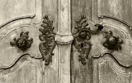 Historical vintage close up door