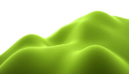 rolling landscape: Abstract modify terrain hills rendered on white background Stock Photo