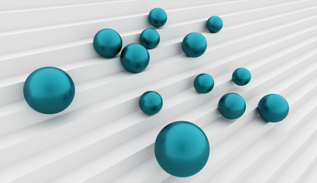 blue sphere: Blue sphere business concept rendered on stairs Stock Photo