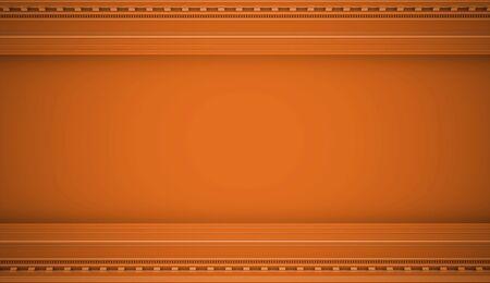 metallic background: Orange vintage concept wall rendered