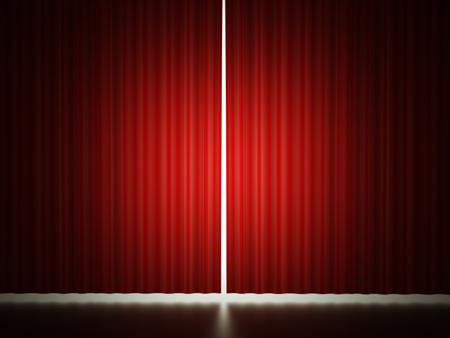 赤いカーテン概念表示