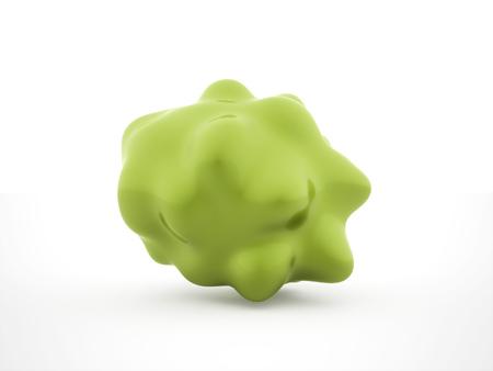 表示される緑色細菌セル 写真素材