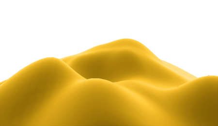 yellow hills: Yellow abstract hills concept rendered