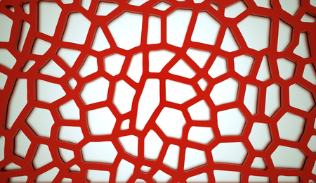 reticulation: Red cell mesh concept rendered