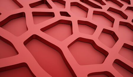 mesh: Cell mesh background red Stock Photo
