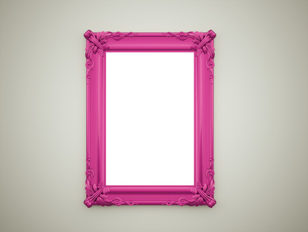 vintage photo frame: Purple mirror concept on dark wall