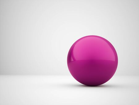 Pink abstract sphere concept rendered