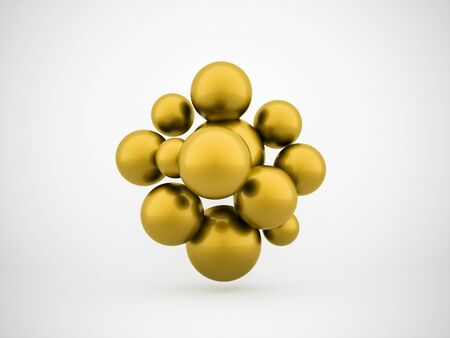 gold abstract: Gold abstract spheres concept