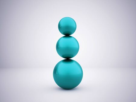 Blue abstract sphere concept rendered photo