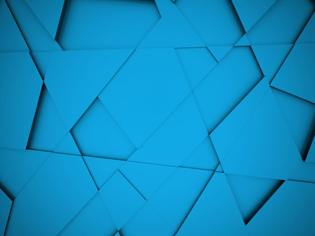 Blue triangle background rendered