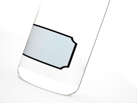 tare: Glass bottle rendered Stock Photo