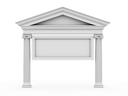 classical style: Historic antic architecture on white background