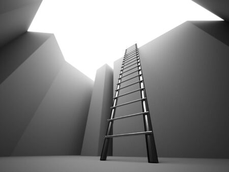 and escape: Escape on ladder from the pit