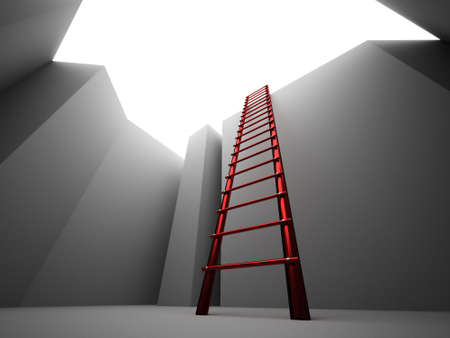 Escape on ladder from the pit