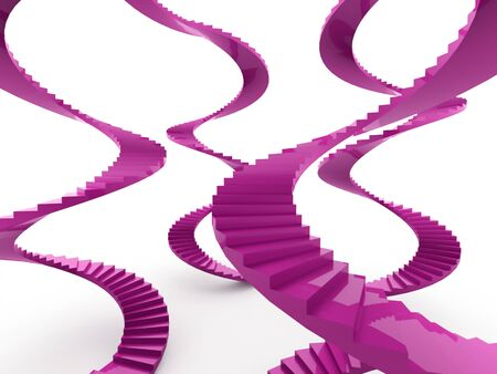 spiral stairs: Spiral stairs concept rendered on white background