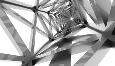 steel structure: Construction rendered on white background rendered
