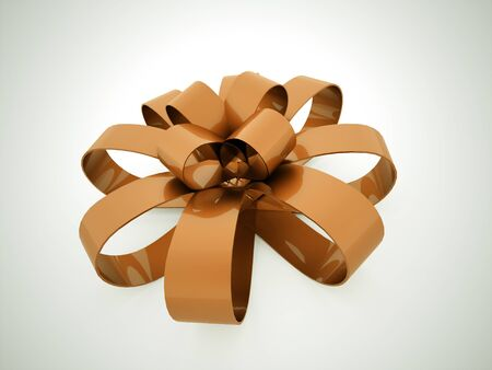 secret love: Ribbon chistmas or gift concept rendered