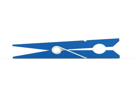 clothes pin: Clothes pin rendered on white isolated Stock Photo