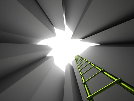 liberation: Escape on ladder from the pit