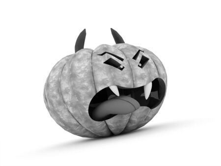 cucurbit: Halloween pumpkins rendered on white background Stock Photo