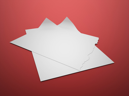 paper note: Blank paper note format rendered Stock Photo