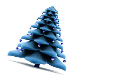 christmass: Abstract christmas tree concept rendered