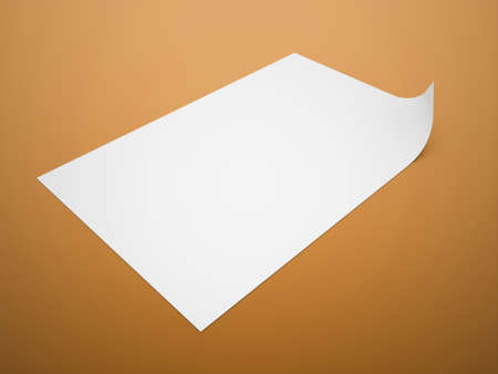paper note: Blank paper note rendered Stock Photo
