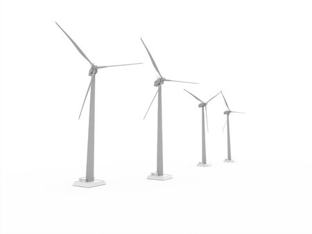 propeller: Wind propeller turbines rendered on white background Stock Photo