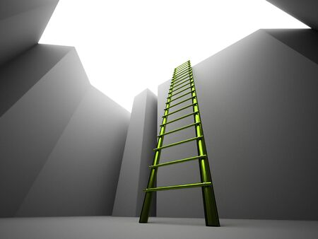 pit: Escape on ladder from the pit
