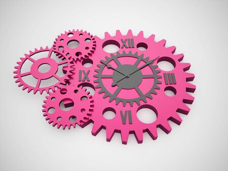 watch gears: Gears, watch inside concept rendered isolated on white background