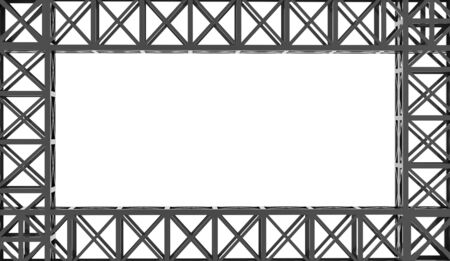 roof framework: Construction rendered on white background rendered